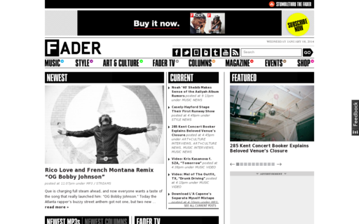 Access thefader.com using Hola Unblocker web proxy