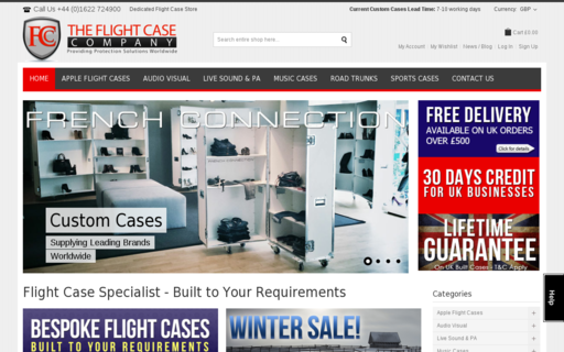 Access theflightcasecompany.com using Hola Unblocker web proxy