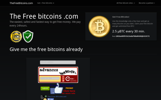 Access thefreebitcoins.com using Hola Unblocker web proxy