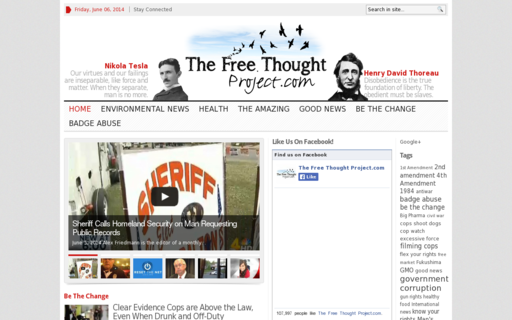 Access thefreethoughtproject.com using Hola Unblocker web proxy