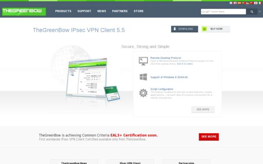 Access thegreenbow.com using Hola Unblocker web proxy