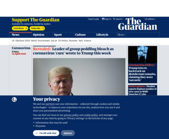 Access theguardian.com using Hola Unblocker web proxy