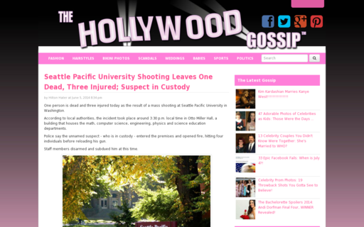 Access thehollywoodgossip.com using Hola Unblocker web proxy