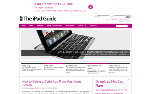 Access theipadguide.com using Hola Unblocker web proxy