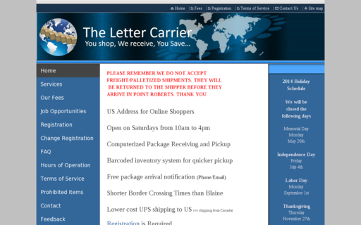 Access thelettercarrier.com using Hola Unblocker web proxy