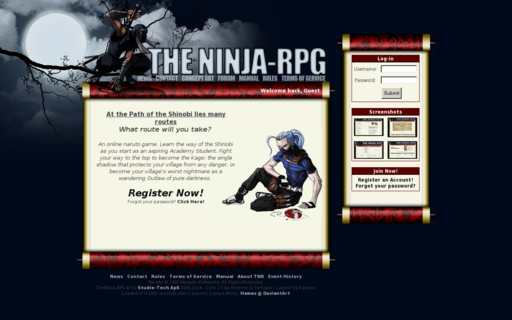 Access theninja-rpg.com using Hola Unblocker web proxy