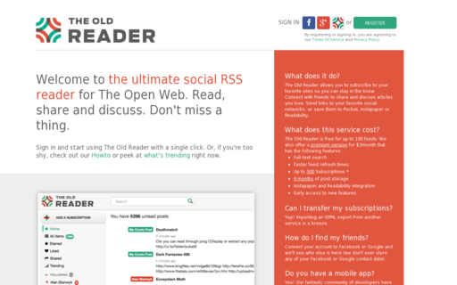 Access theoldreader.com using Hola Unblocker web proxy