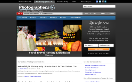 Access thephotographerslife.com using Hola Unblocker web proxy