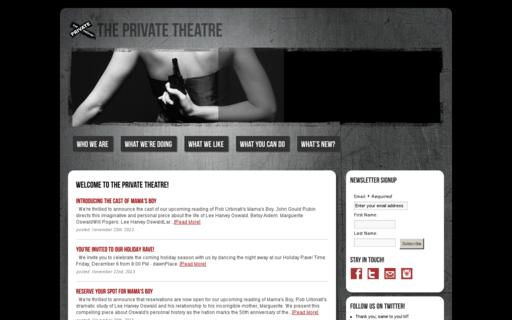 Access theprivatetheatre.org using Hola Unblocker web proxy