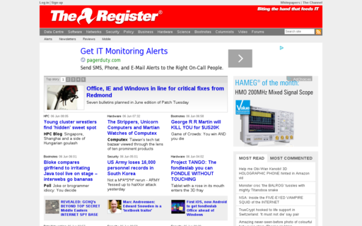 Access theregister.co.uk using Hola Unblocker web proxy