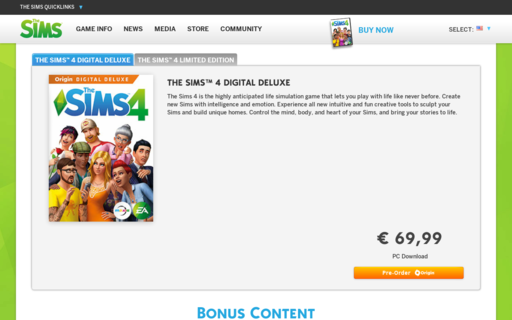 Access thesims4.com using Hola Unblocker web proxy