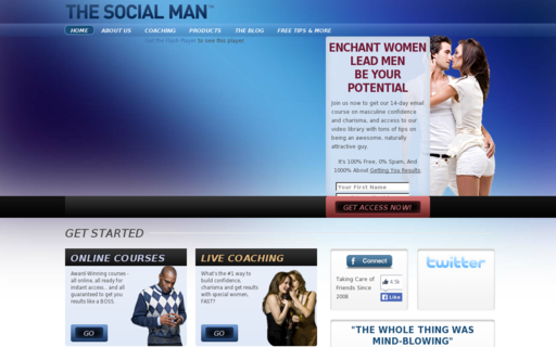 Access thesocialman.com using Hola Unblocker web proxy