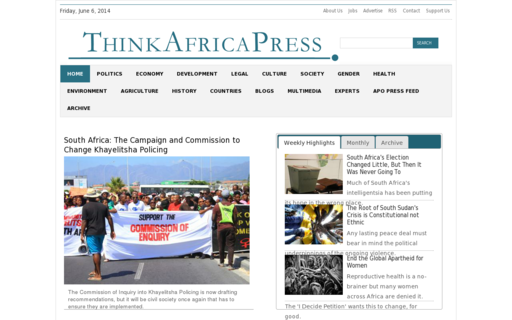 Access thinkafricapress.com using Hola Unblocker web proxy