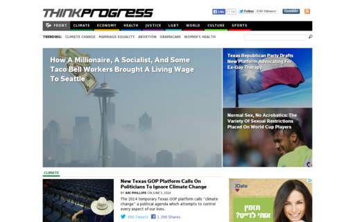 Access thinkprogress.org using Hola Unblocker web proxy