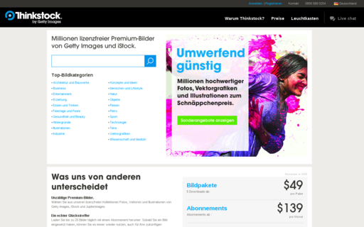 Access thinkstockphotos.de using Hola Unblocker web proxy