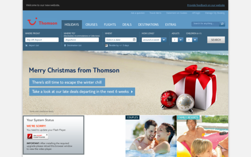 Access thomson.co.uk using Hola Unblocker web proxy