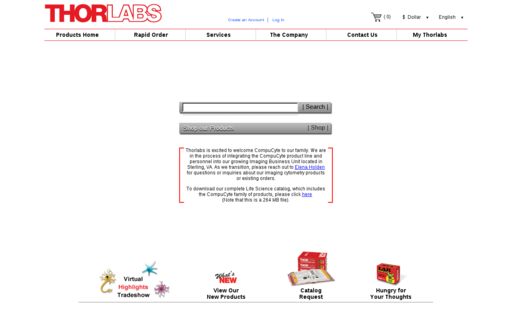 Access thorlabs.com using Hola Unblocker web proxy