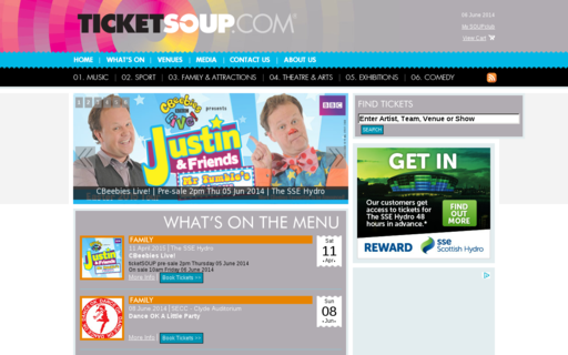 Access ticketsoup.com using Hola Unblocker web proxy