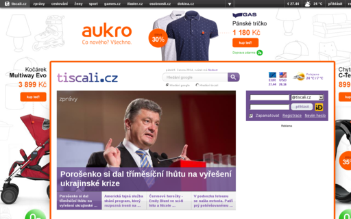 Access tiscali.cz using Hola Unblocker web proxy