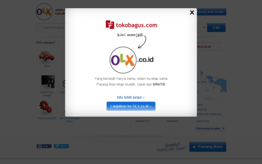 Access tokobagus.com using Hola Unblocker web proxy