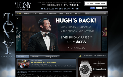Access tonyawards.com using Hola Unblocker web proxy