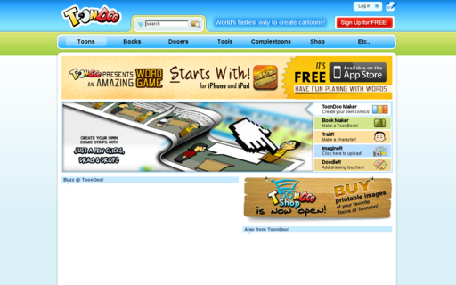 Access toondoo.com using Hola Unblocker web proxy