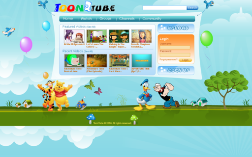 Access toontube.com using Hola Unblocker web proxy