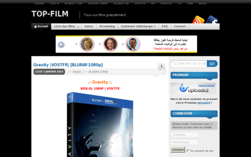 Access top-film.net using Hola Unblocker web proxy