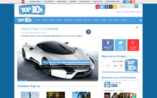 Access top10mais.org using Hola Unblocker web proxy
