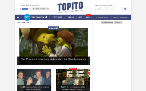 Access topito.com using Hola Unblocker web proxy
