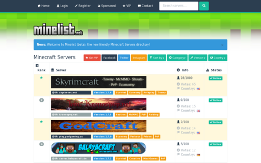 Access topminecraftservers.com using Hola Unblocker web proxy