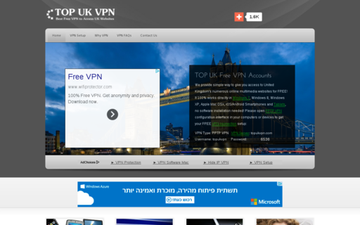 Access topukvpn.com using Hola Unblocker web proxy