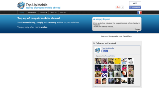 Access topup-mobile.com using Hola Unblocker web proxy
