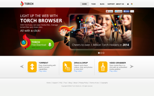 Access torchbrowser.com using Hola Unblocker web proxy