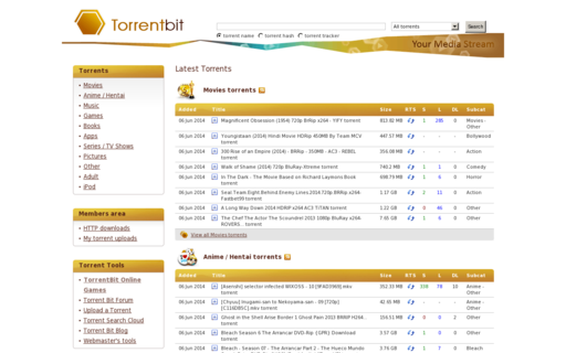 Access torrentbit.net using Hola Unblocker web proxy
