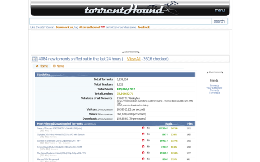 Access torrenthound.com using Hola Unblocker web proxy