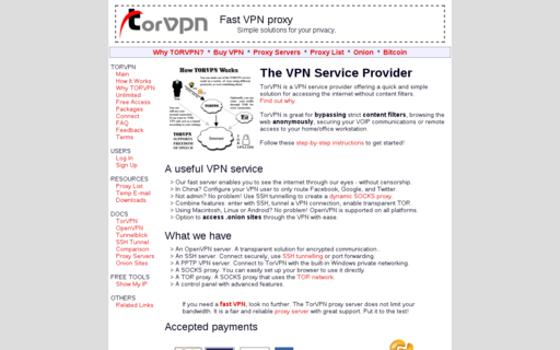 Access torvpn.com using Hola Unblocker web proxy