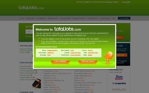 Access totaljobs.com using Hola Unblocker web proxy