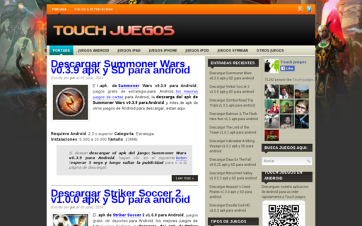 Access touchjuegos.com using Hola Unblocker web proxy