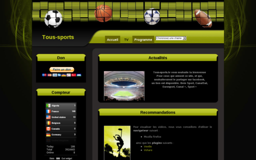 Access tous-sports.tv using Hola Unblocker web proxy