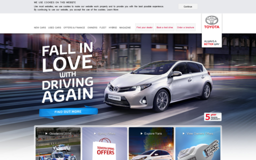 Access toyota.co.uk using Hola Unblocker web proxy