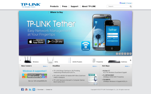Access tp-link.com using Hola Unblocker web proxy