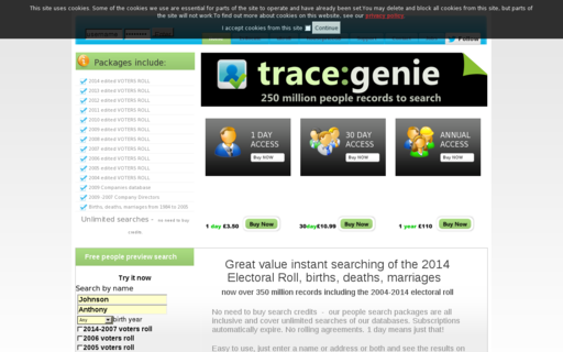 Access tracegenie.com using Hola Unblocker web proxy