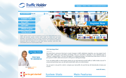 Access trafficholder.com using Hola Unblocker web proxy