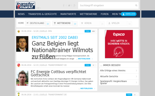 Access transfermarkt.de using Hola Unblocker web proxy