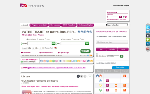 Access transilien.com using Hola Unblocker web proxy