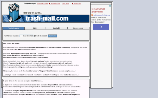 Access trash-mail.com using Hola Unblocker web proxy