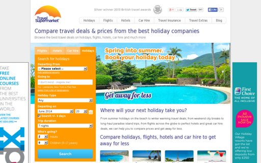 Access travelsupermarket.com using Hola Unblocker web proxy