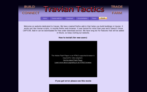 Access traviantactics.com using Hola Unblocker web proxy