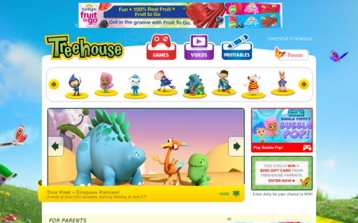 Access treehousetv.com using Hola Unblocker web proxy